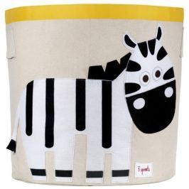 Kosz na zabawki - zebra Skrzynie i pojemniki na zabawki