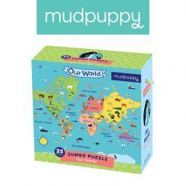 Puzzle Jumbo Mudpuppy - Nasz Świat (25 dużych elem.)