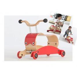 Flip MINI - bujaczek i jeździk 2w1 - czerwony