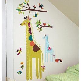 Naklejki naścienne Wallies - miarka żyrafa Dziecięce akcesoria dekoracyjne