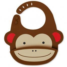 Śliniak silikonowy z kieszonką Skip Hop Zoo - małpka Śliniaki i fartuszki