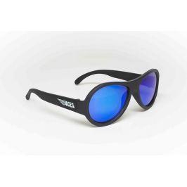 Okulary przeciwsłoneczne Aviator (7-14): czarne+niebieskie szkła
