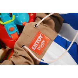 Estoy Boox  worek na zabawki - niebieskie pasy