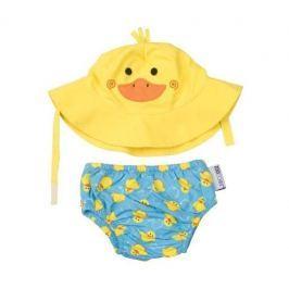 Zestaw plażowy: pieluszka i kapelusz (UPF 50+) - kaczka L Ubranka niemowlęce