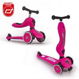 Highwaykick 2w1 jeździk i hulajnoga dla dzieci 1-5 lat - różowa Rowerki i inne pojazdy dla dzieci