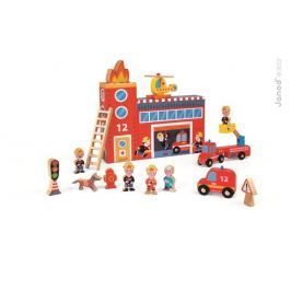 Straż pożarna - drewniany zestaw story box Pozostałe zabawki