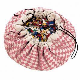 Worek na zabawki Play&Go - różowe romby