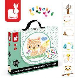 Zestaw artystyczny Janod - Stempelki zwierzęta Pozostałe zabawki edukacyjne