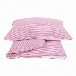 Pościel niemowlęca - paski - różowe Pościel dla dzieci