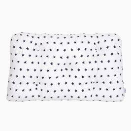 Poduszka-wezgłowie mała - gwiazdki - granatowo - białe