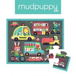 Pierwsze puzzle Mudpuppy - pojazdy (12 elem.)
