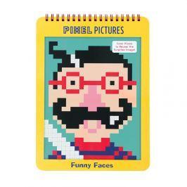 Kolorowanka z pixelami Mudpuppy - śmieszne buźki Zabawki plastyczne