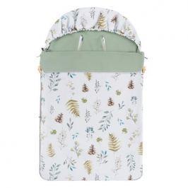 Śpiwór bawełniany wiosenno-letni Samiboo Mini z regulowaną grubością - leśny z khaki