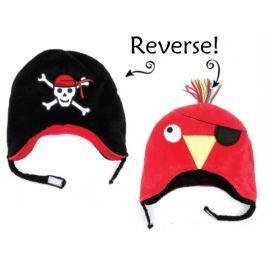 Dwustronna czapka zimowa FlapJack (6m-3l) - pirat / papuga