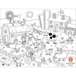 Mata do kolorowania, wielokrotnego użytku - farma Zabawki plastyczne