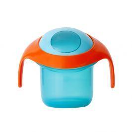 Kubek-niewysypek na przekąski  Boon Nosh - pomarańczowo-niebieski Naczynia i sztućce dla dzieci