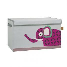 Pudełko zamykane na zabawki Lassig Wildlife - słoń