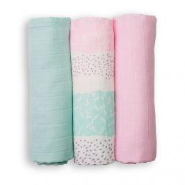 Zestaw pieluszek muślinowych Lulujo (70x70) - Tropical Pink