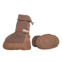 Buto-skarpetki 0-6 miesięcy brązowe Nakrycia głowy, szaliki i rękawiczki dziecięce