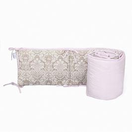 Ochraniacz do łóżeczka 60x120 - ornament - beżowo-różowy