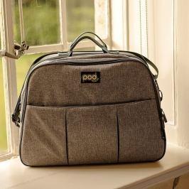 Wielofunkcyjna torba-łóżeczko turystyczne dla niemowląt Bizzi Growin Pod - Grey Linen Łóżeczka dziecięce i kojce