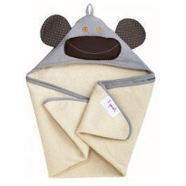 Ręcznik z kapturkiem - szara małpka Ręczniki i okrycia kąpielowe