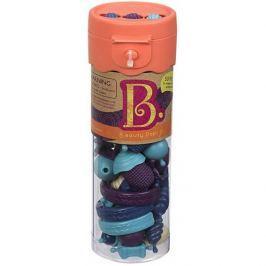 Zestaw do tworzenia bizuterii - B.eauty Pops (50 elem.): błękitne, niebieskie, fioletowe
