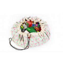 Worek na zabawki Play&Go - flamingi Skrzynie i pojemniki na zabawki
