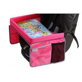 Bezpieczny stolik podróżnika + świąteczna kolorowanka - różowy