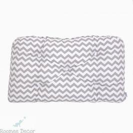 Poduszka-wezgłowie mała - zygzaki - szaro-białe Pościel dla dzieci