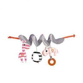 Spiralka Zoopreme - różowa Zabawki do wózka łóżeczka i fotelika