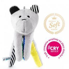 Whisbear Premium Soft - szumiący miś z funkcją CRYsensor : łapka Minky - cytrynowa