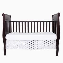 Falbana dekoracyjna do łóżeczka - gwiazdki - biało - granatowe