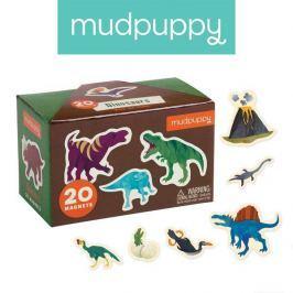 Tekturowe magnesy Mudpuppy - dinozaury (20 elem.) Klocki