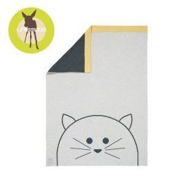 Muślinowy kocyk z bawełny organicznej Lassig (75x100) - Little Chums - kot Koce i narzuty dziecięce
