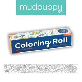 Duża kolorowanka na rolce + 6 kredek Mudpuppy - kosmos  Zabawki plastyczne