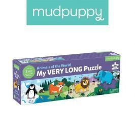 Metrowe puzzle Mudpuppy - Zwierzęta Świata (30 elementów)