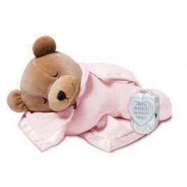 Miś z biciem serca do usypiania i uspokajania - różowy Pozostałe zabawki dla niemowląt