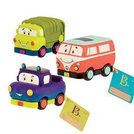 3 samochodziki b.toys - Mini Wheeee-ls - śmieciarka, bus, pick-up