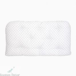 Poduszka-wezgłowie duża - gwiazdki - biało-miętowe