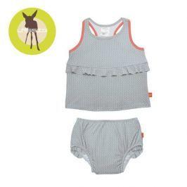 Kostium dwuczęściowy z pieluszką Splash&Fun (UV 50+) - Polka Dots Grey (12mc)