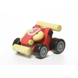 Drewniana wyścigówka Cubika - czerwona