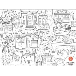 Mata do kolorowania, wielokrotnego użytku - miasto