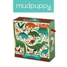 Puzzle Jumbo Mudpuppy - dinozaury (25 dużych elem.)