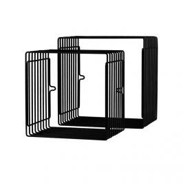 Zestaw metalowych półek (mniejsze) - czarne