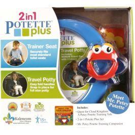 Zestaw Potette Plus do nauki nocnika: nocnik Potette+książeczka+zabawka - niebieski