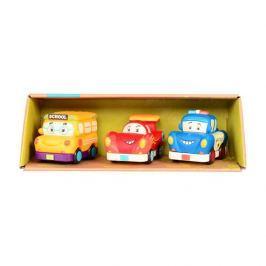 3 samochodziki b.toys - Mini Wheeee-ls - wyścigówka, radiowóż, autobus