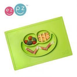 Silikonowy talerz z podkładką EZPZ 2w1 - zielony