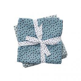 Zestaw pieluszek muślinowych Done by Deer Dots (70x70) - niebieski