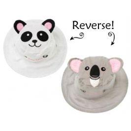 Dwustronny kapelusz FlapJack - S - panda / koala